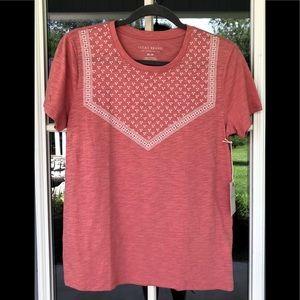 Lucky Brand Short Sleeve Tee Shirt. NWT. Size M